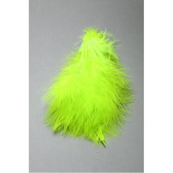 Plumes Marabou Strung Fluo Chartreuse