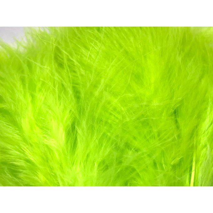 Plumes Marabou Fluo Chartreuse