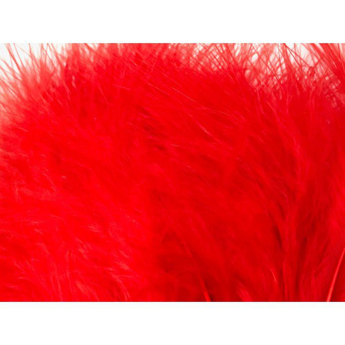 Plumes Marabou Fluo rouge